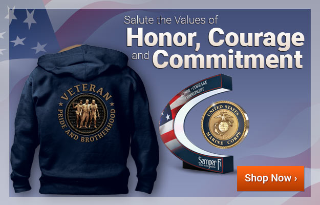 Salute the Values of Honor, Courage and Commitment - Shop Now