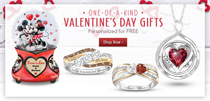 One-of-a-Kind Valentine's Day Gifts - Personalized for FREE - Shop Now
