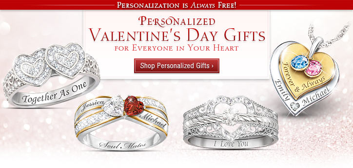 Personalized Valentine's Day Gifts for Everyone in Your Heart - Personalization is Always FREE - Shop Now