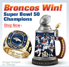 Broncos Win! Super Bowl 50 Champions - Shop Now