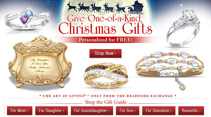 Give One-of-a-Kind Christmas Gifts - Personalized for FREE! Shop Now