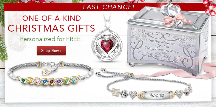Last Chance! One-of-a-Kind Christmas Gifts - Personalized for FREE - Shop Now