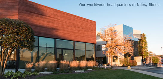 Our worldwide headquarters in Niles, Illinois