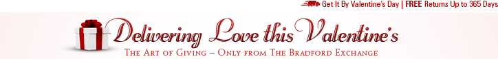 Delivering Love this Valentine's - The Art of Giving - Only from The Bradford Exchange