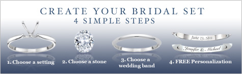 Create Your Bridal Set - 4 Simple Steps - Available Only From The Bradford Exchange