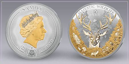 The King of the Forest 10-Point Buck Silver Kilo Coin