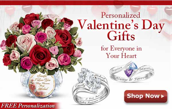 Personalized Valentine's Day Gifts for Everyone in Your Heart - FREE Personalization - Shop Now