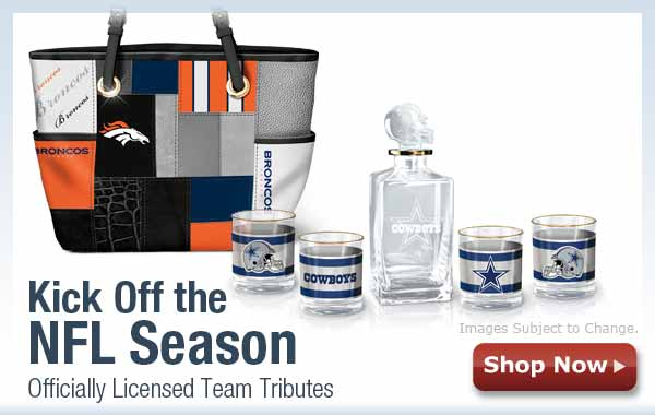Kick Off the NFL Season - Officially Licensed Team Tributes - Shop Now