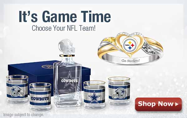 It's Game Time! Choose Your NFL Team! Shop Now
