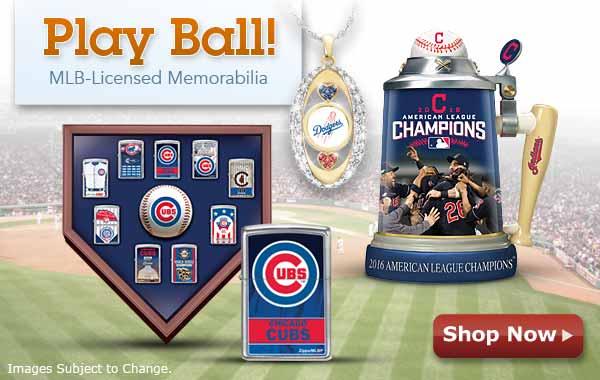 Play Ball! MLB-Licensed Memorabilia - Shop Now