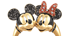 Disney Mickey Mouse And Minnie Mouse 'Timeless Love' Ring