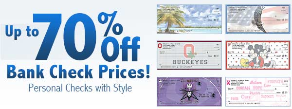 Up to 70% Off Bank Check Prices! Personal Checks with Style
